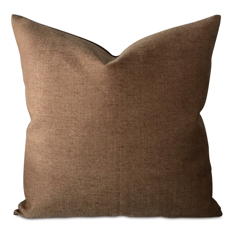 "20"" x 20"" Bronze Textured Canvas Woven Decorative Pillow Cover"