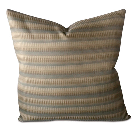 "22"" x 22""  Metallic Striped Luxury Woven Decorative Pillow Cover"