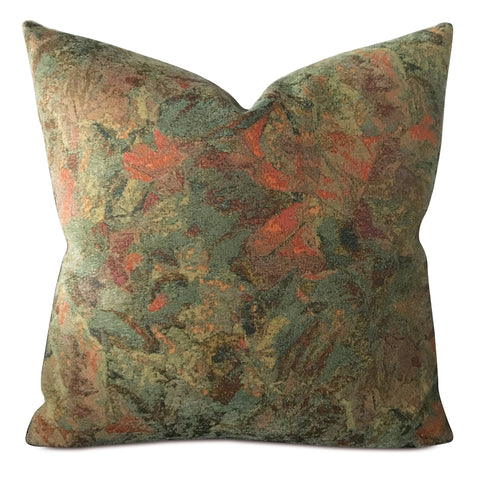 "22"" x 22"" Vintage Colorsplash Jacquard Decorative Pillow Cover"