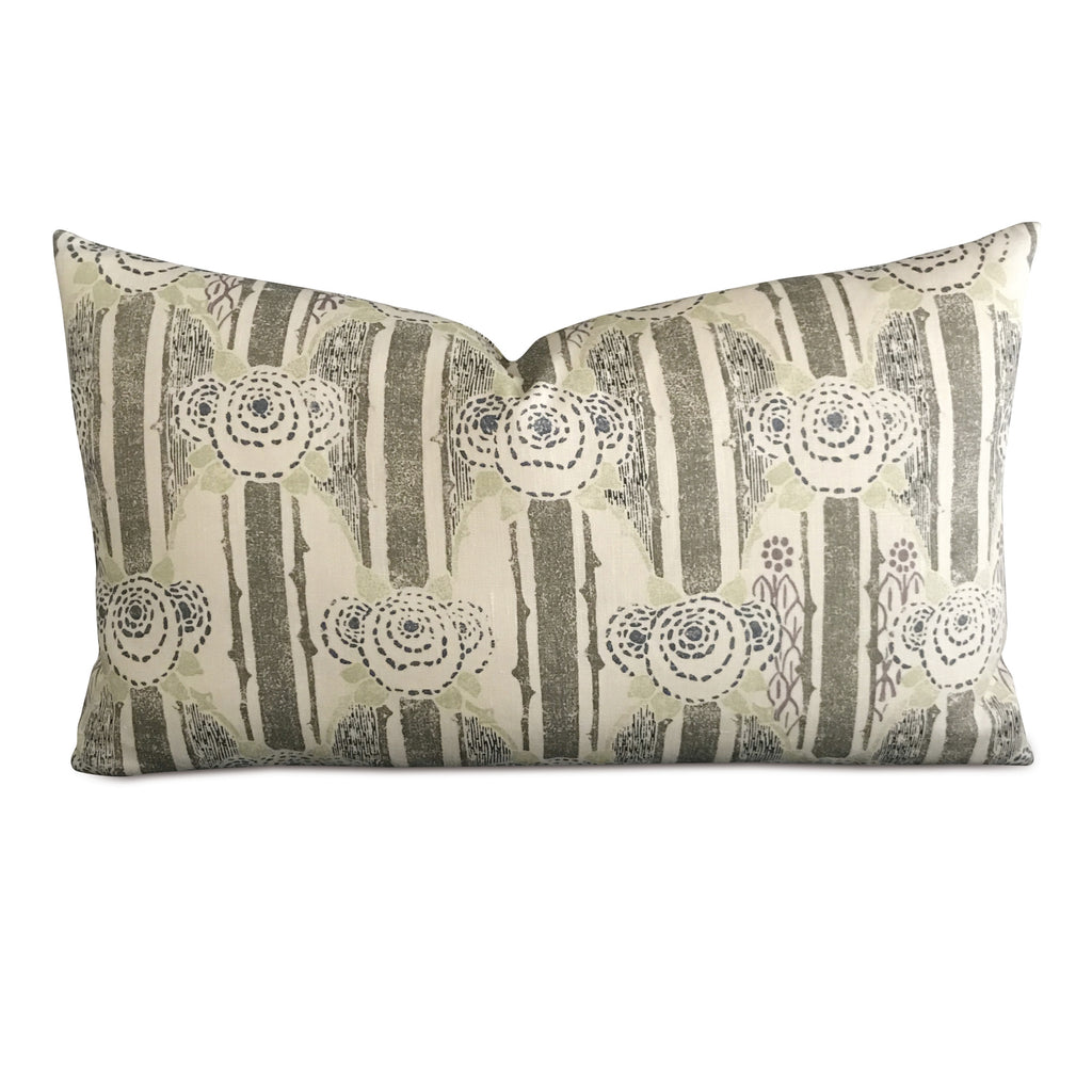 "15"" x 26"" Linen Botanical Abstract Decorative Pillow Cover"