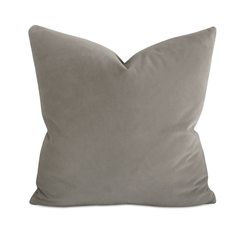 "20"" x 20"" Taupe Velvet Decorative Pillow Cover"