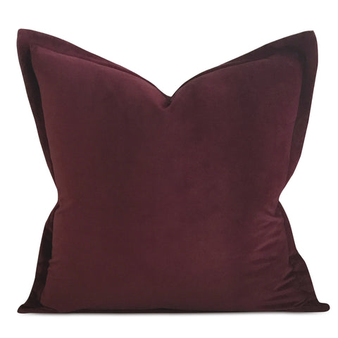 "22"" x 22"" Jam Velvet Self Flange Decorative Pillow"