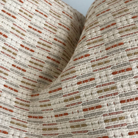 "Neutral Rust Textured Woven  King Sham Cover 36"" x 20"""