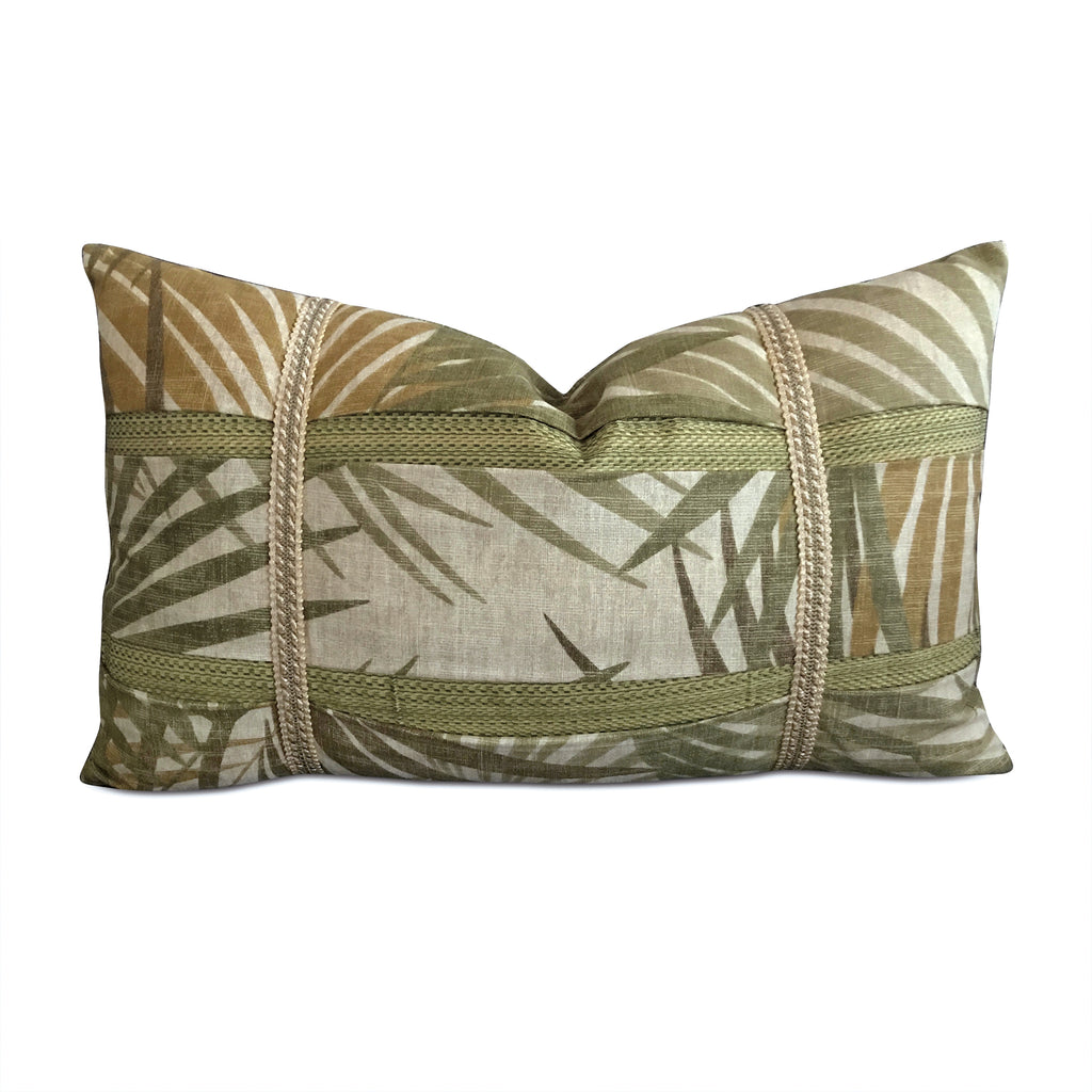 "Tropical Leaf Decorative Pillow Cover - 13"" x 22"""
