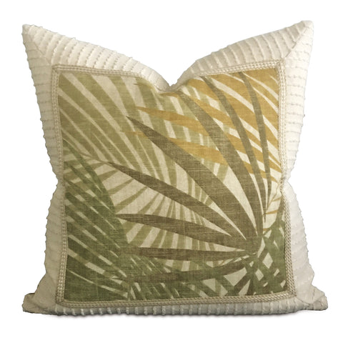"Tropical Palm Leaf Accent Pillow - 20"" x 20"""