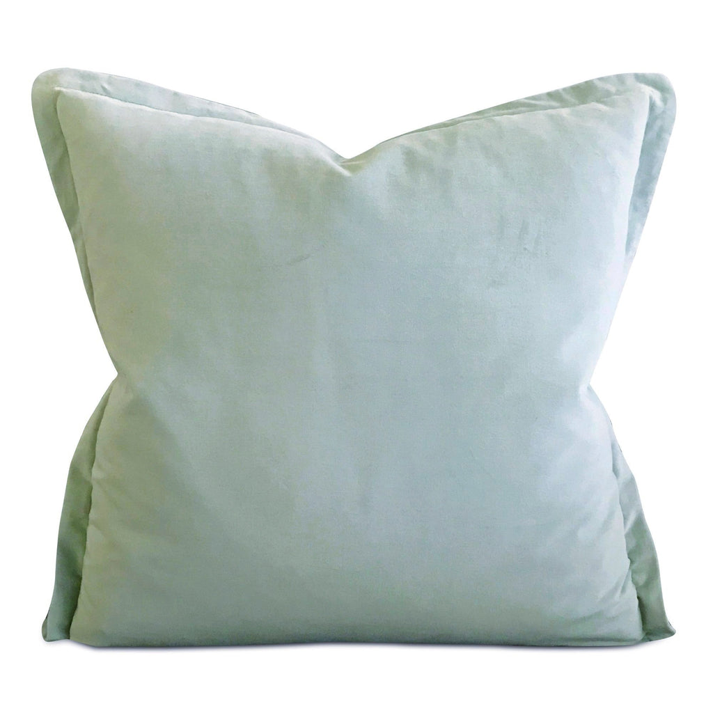 "22"" x 22"" Mint Velvet Self Flange Decorative Pillow"