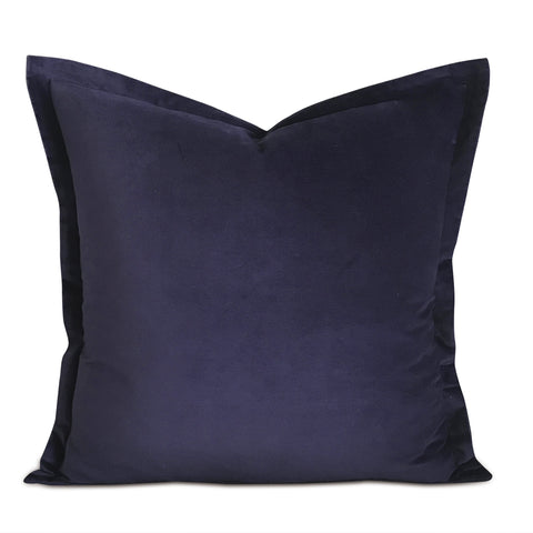 "22"" x 22"" Deep Purple Velvet Self Flange Decorative Pillow"
