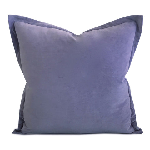 "22""x22"" Lavender Velvet Self Flange Decorative Pillow"