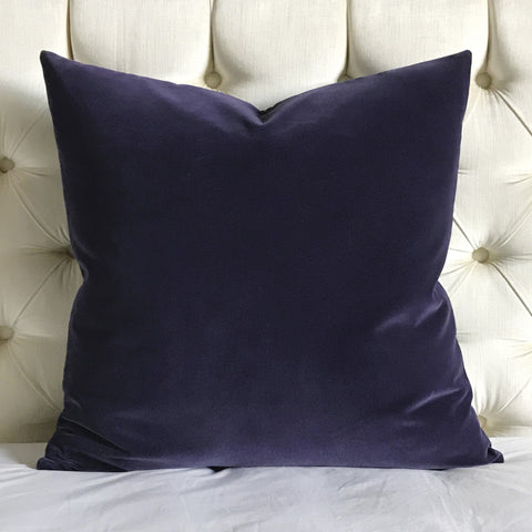 Grape Purple Velvet Decorative Pillow Cover