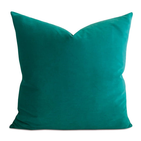 Teal Velvet Decorative Pillow