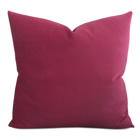 Magenta Velvet Decorative Pillow