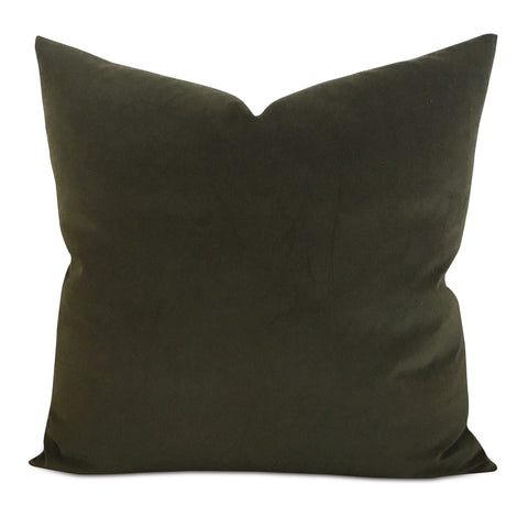 Hunter Green Velvet Decorative Pillow