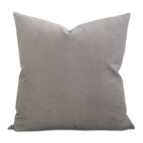 Light Gray Velvet Decorative Pillow