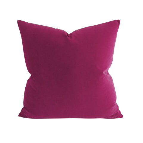 Plum Velvet Decorative Pillow
