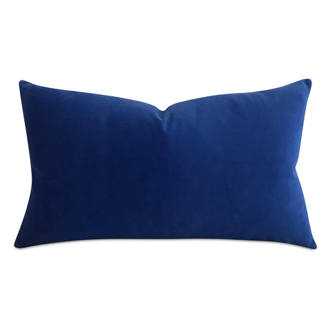 Deep Blue Velvet Decorative Pillow