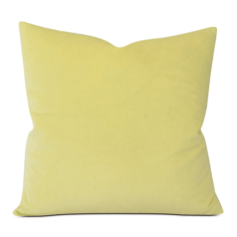 "Canary Yellow Velvet Decorative Pillow Cover 20"" x 20"""