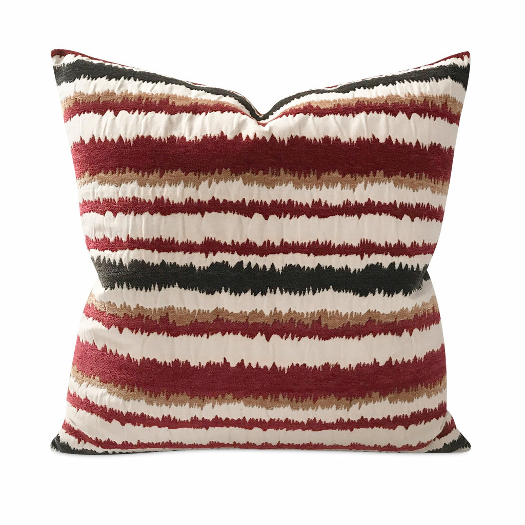 "Southwestern Velvet High Pile Stripe Decorative Pillow Cover 24"" x 24"""
