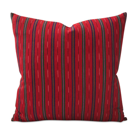 "Southwestern Red Linen Decorative Pillow Cover 22"" x 22"""