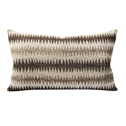 "Woven Navajo Zig Zag Rectangular Decorative Pillow Cover 13"" x 22"""