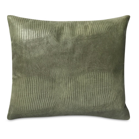"Embossed Leather Faux Alligator Pillow 13"" x 15"""
