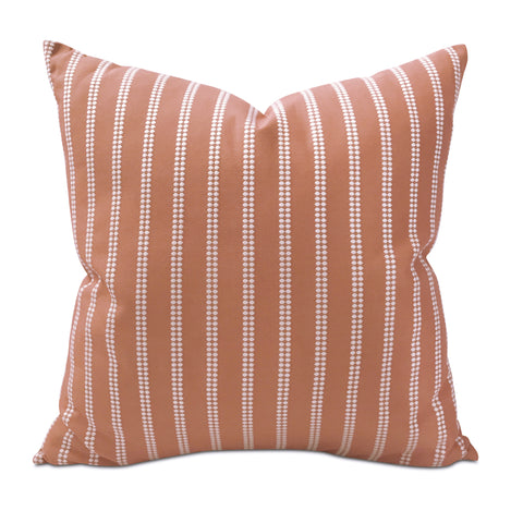 "Bright Orange Tribal Stripe Decorative Pillow Cover 24"" x 24"""