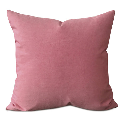 "Dusty Pink Solid Throw Pillow Cover 22""x22"""