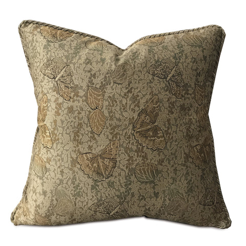 "Metallic Butterfly Cord Throw Pillow Cover 20""x20"""