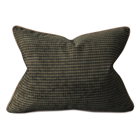 "Deep Forest Green Lodge Lumbar Pillow Cover 20""x27"""