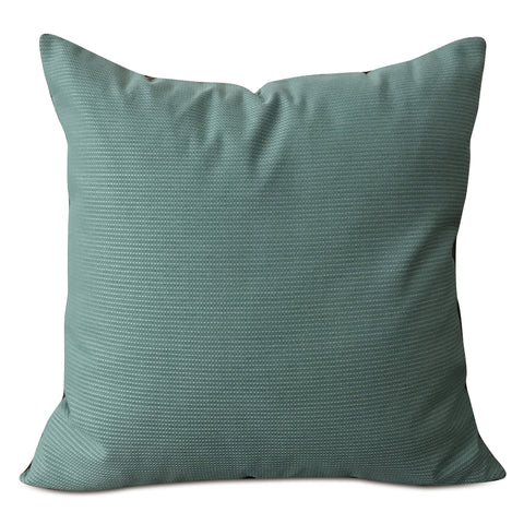 "Smoky Turquoise Solid Throw Pillow Cover 22"" x 22"""