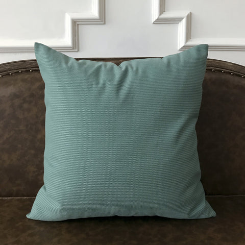 "Smoky Turquoise Solid Throw Pillow Cover 22""x22"""