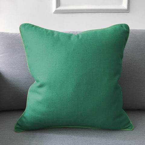 "Emerald Green Solid Throw Pillow Cover 18""x18"""