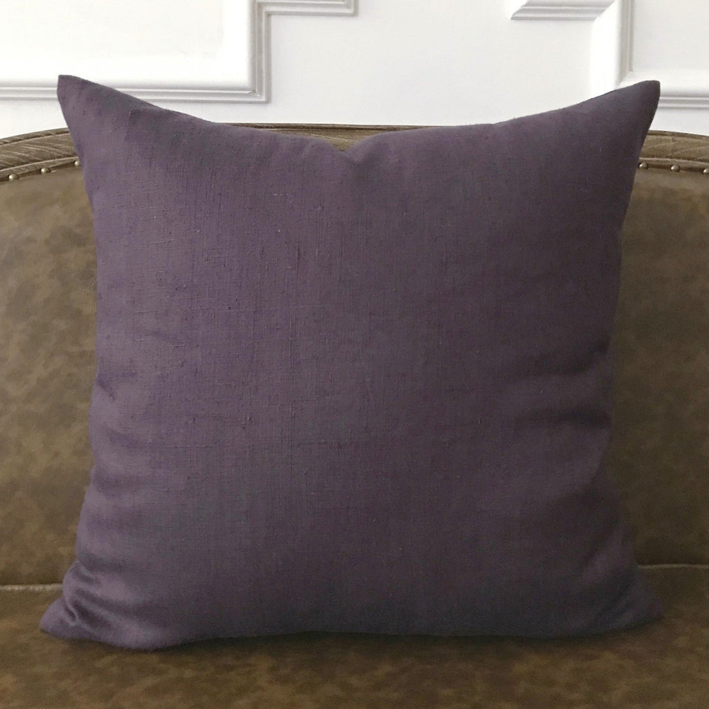 "Purple Solid Throw Pillow Cover 22""x22"""