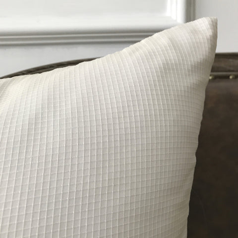 "White Check Throw Pillow Cover 22""x22"""