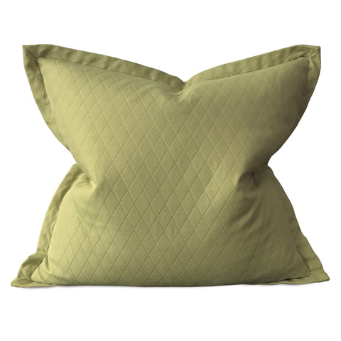 "Olive Green Woven Geometric Large Pillow Cover 26""x26"""