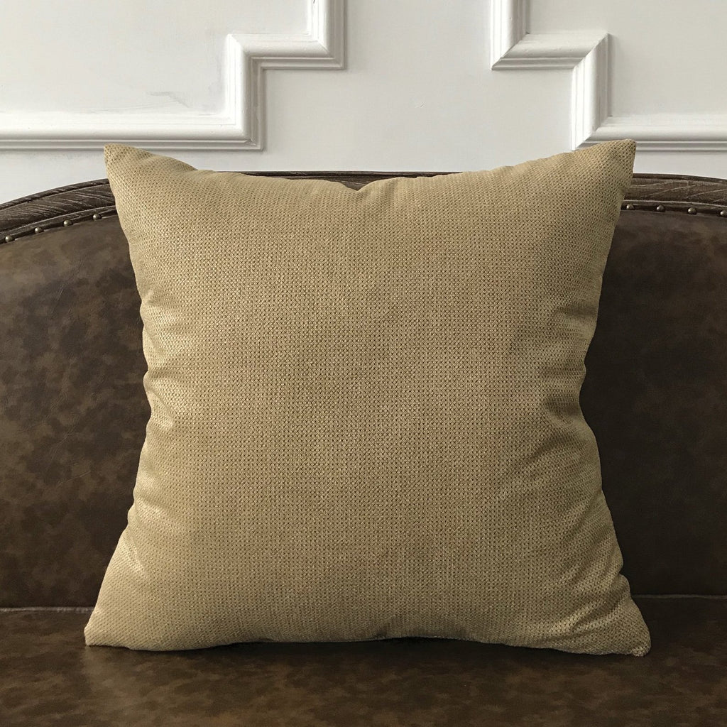 "Metallic Taupe Textured Woven Throw Pillow Cover 22""x22"""