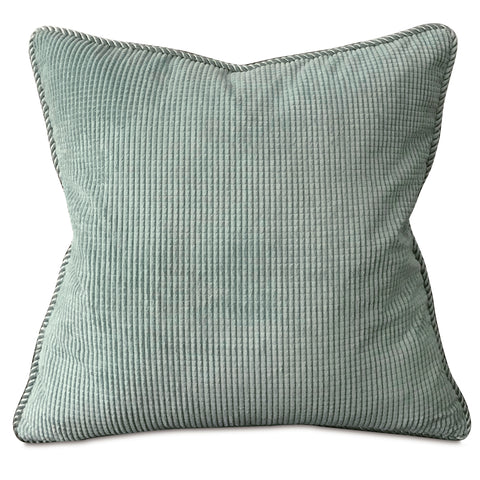 "Spa Textured Solid Throw Pillow Cover with Cord 20""x20"""