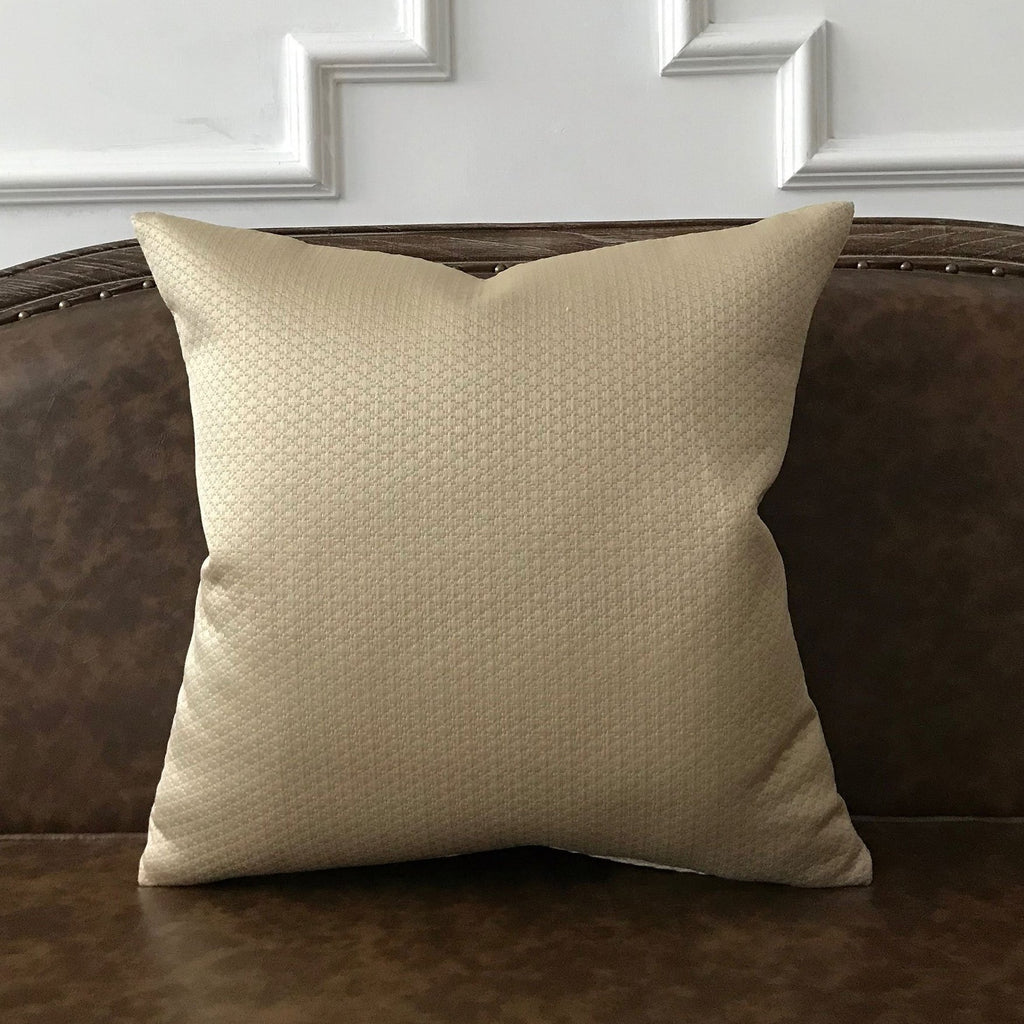 Taupe Textured Decorative Pillow Cover