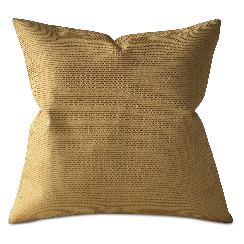 "Gold Pinstriped Throw Pillow Cover 22""x22"""