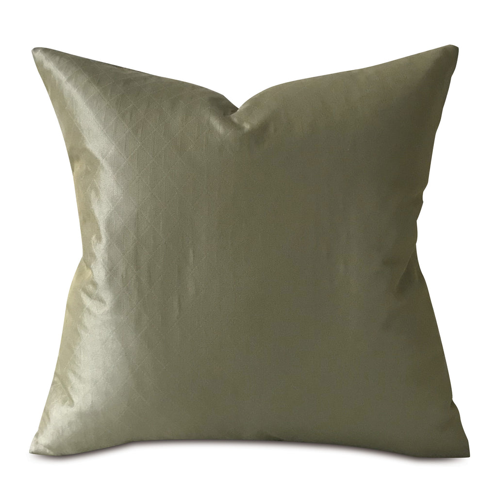 Lustrous Olive Green Decorative Pillow Cover