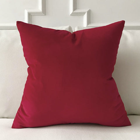"Scarlet Red Lux Velvet Throw Pillow Cover 22""x22"""