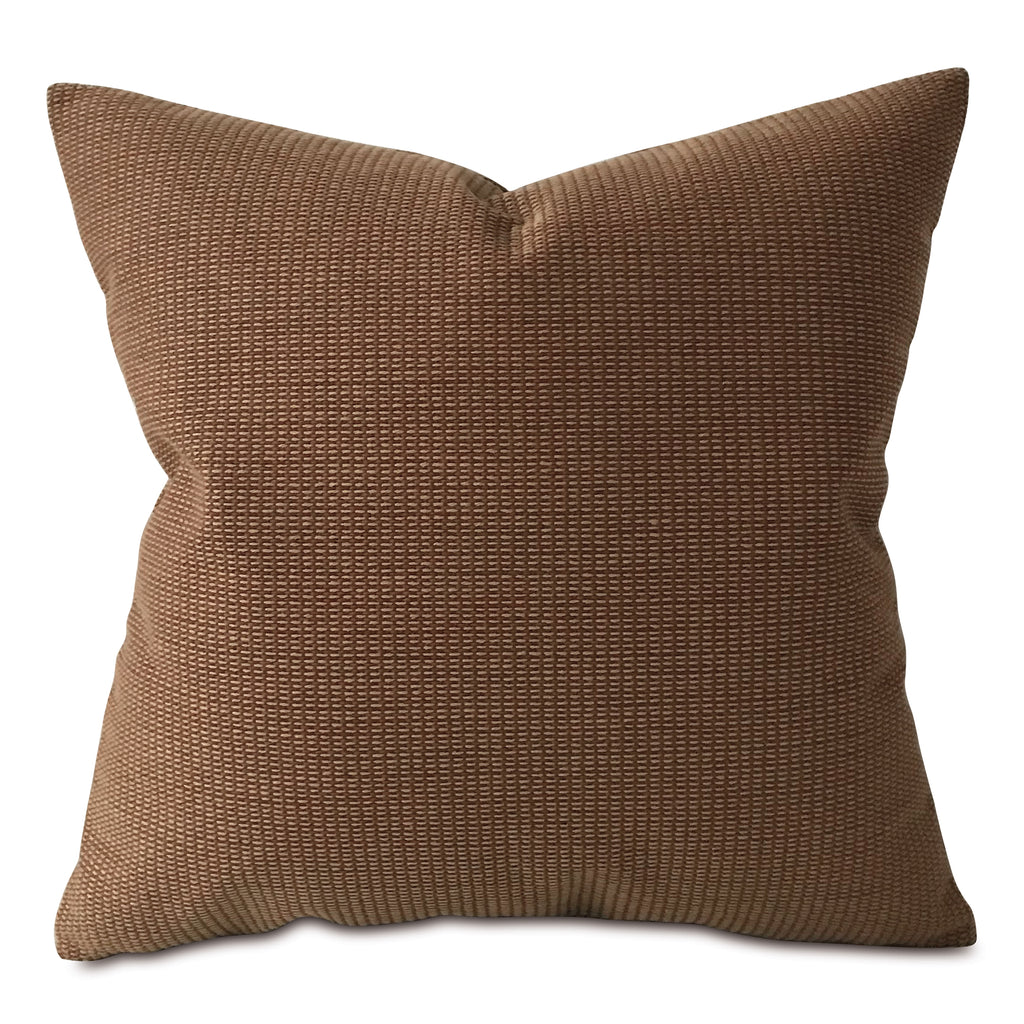 "Earth Tone Textured Throw Pillow Cover 20""x20"""