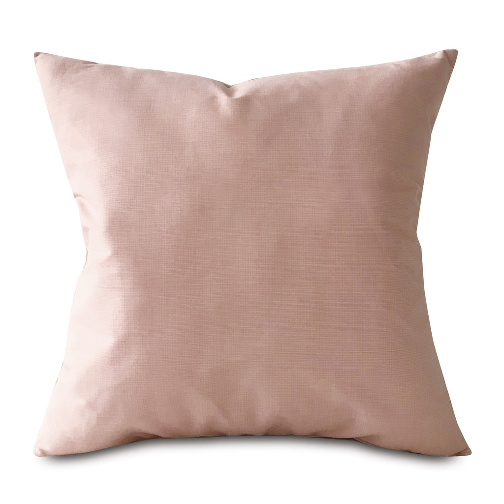 "Blush Solid Throw Pillow Cover 20""X20"