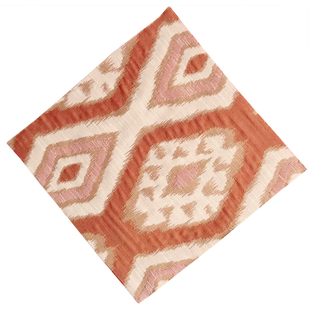 "12"" x 12"" Orange Geometric Quilting and Craft Square"