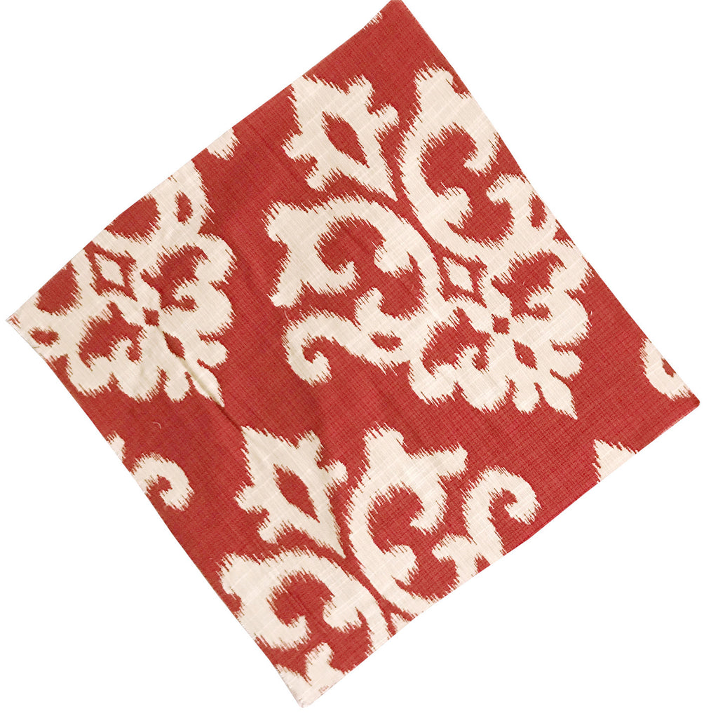 Red and Ivory Floral Quilting & Craft Square
