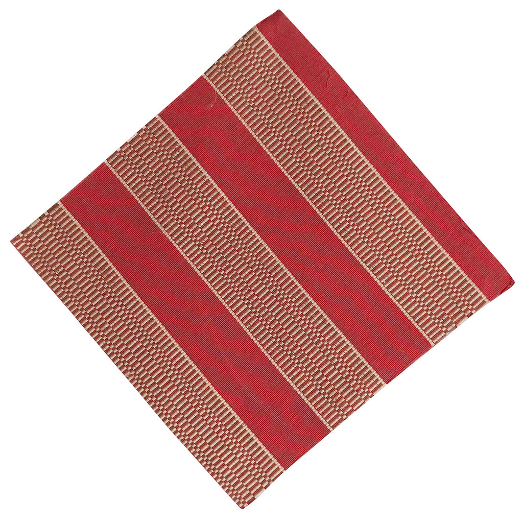 "12"" x 12"" Red and Beige Woven Quilting & Craft Square"