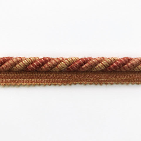 Orange and Scarlet High Quality Decorative Lip Cord Trim by the yard