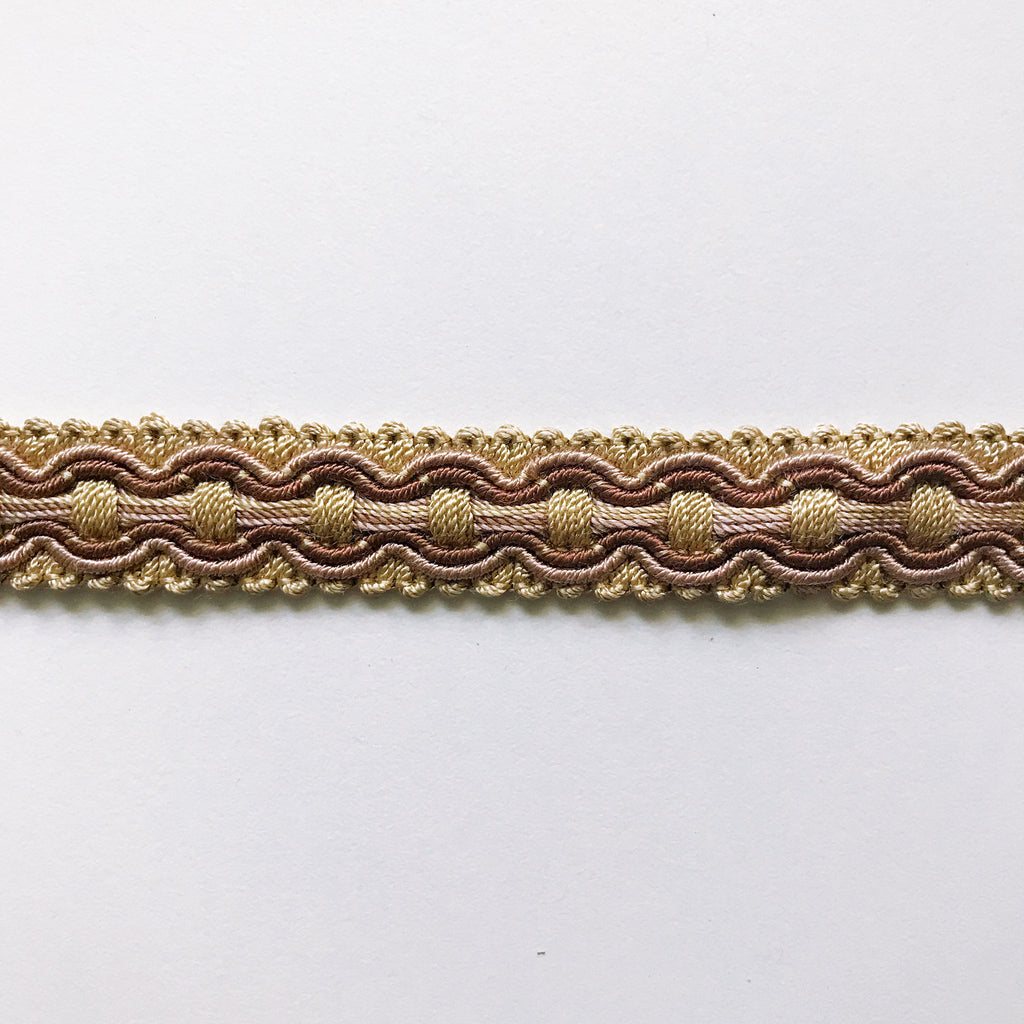 Tan and Brown High Quality Decorative Gimp Trim by the yard