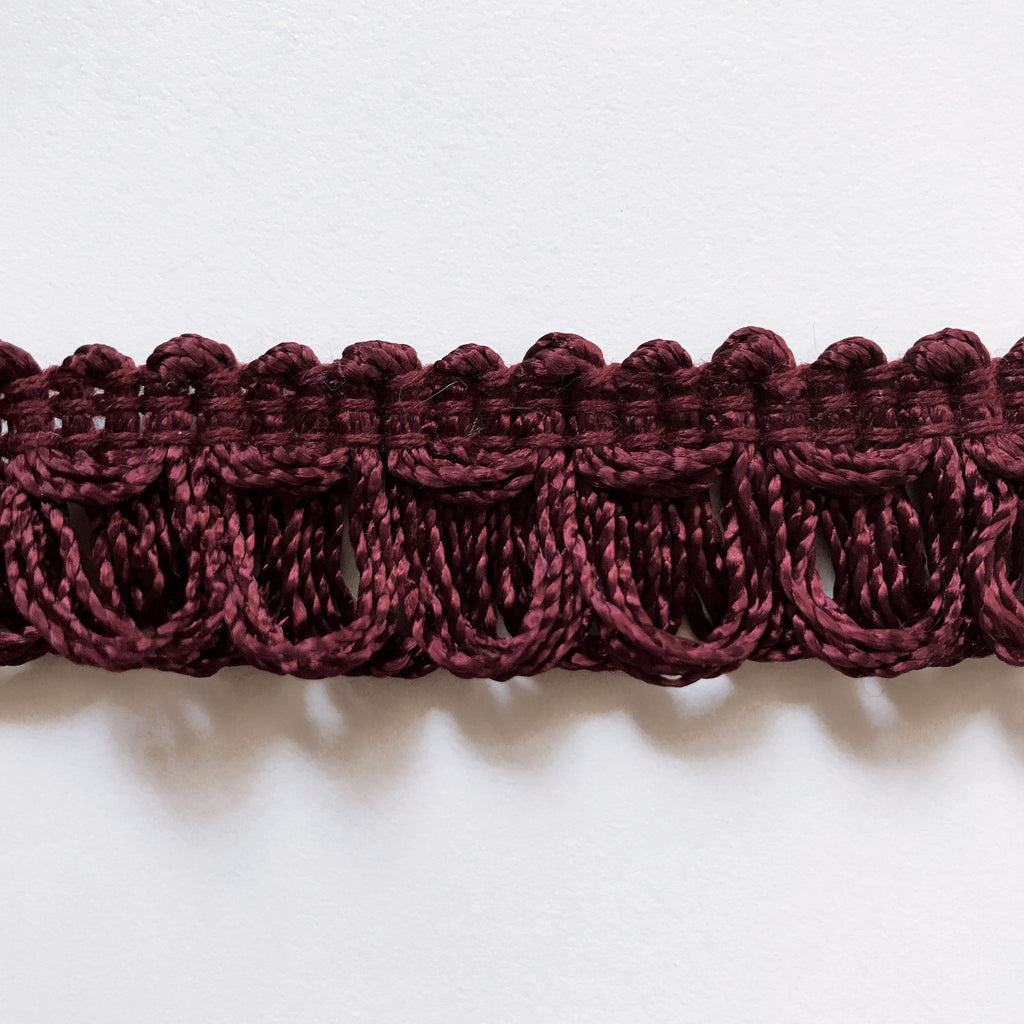 Plum High Quality Decorative Loop Trim by the yard
