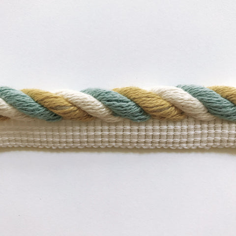 Ivory and Yellow High Quality Decorative Lip Cord Trim by the yard