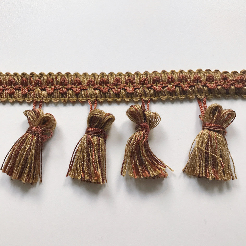 Rust and Gold High Quality Decorative Tassel Trim by the yard